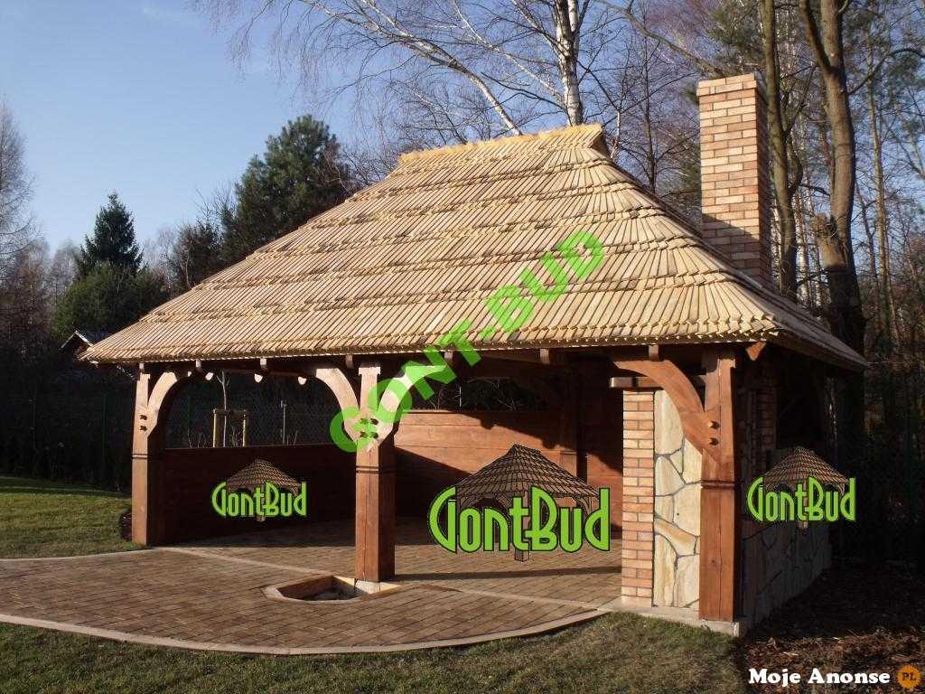 Garaże Drewniane Wiata Grillowa Projekt Wiata Na Samochód
