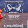 Kryształ 3D Gołąbki Miłości w prezencie dla rodziców!