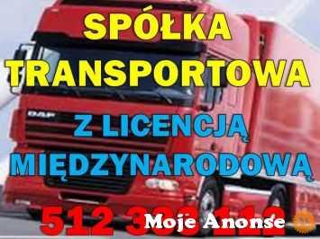 Gotowa spółka z licencją na transport międzynarodowy 512 333 112