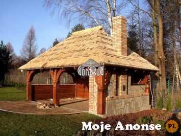 Altana ogrodowa altanka drewniana 4x6m garaż wiata drewutnia dom