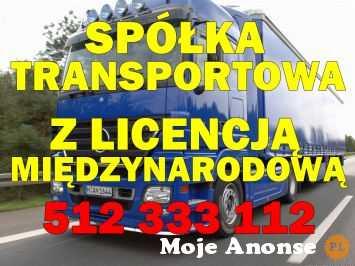 Spółka z licencją na transport międzynarodowy. Tel. 512 333 112