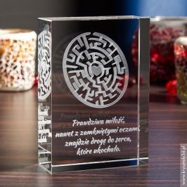 Kryształ 3D Labirynt Miłości to piękny prezent na Walentynki!