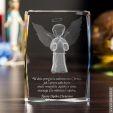 Kryształ 3D z motywem Aniołka – pomysł na prezent na Chrzest
