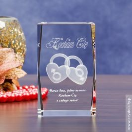 Wyjątkowy prezent na Walentynki – statuetka Dwa Serca 3D