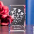 Bukiet Róż 3D z Twoją dedykacją na Dzień Kobiet