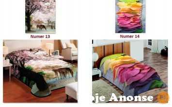 Koc Narzuta na łóżko 3D 155x220 22 wzory
