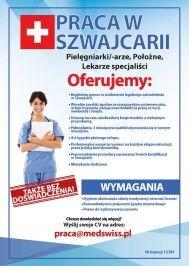 Praca w Szwajcarii  pielęgniarki/-arze, położne