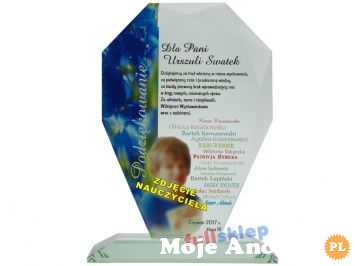 Szklany prezent ze zdjęciem klasowym dla nauczyciela Nadruk Szkło