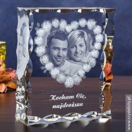 Kryształowa statuetka na prezent na 50 rocznicę ślubu rodziców