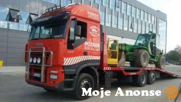 Transport maszyn budowlanych - Wózki widłowe, podesty ruchome