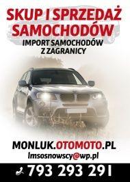 Oferujemy kompleksowy skup samochodów, sprzedaż, import aut