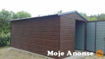 Garaż blaszany jednostanowiskowy drewnopodobny