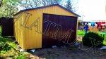 garaż blaszany, brama uchylna, blacha akrylowa, każdy wymiar
