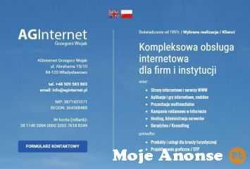 Kompleksowa obsługa internetowa firm i instytucji - AGinternet