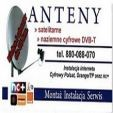 Montaż anten satelitarnych, telewizji naziemnej DVB-T, internetu