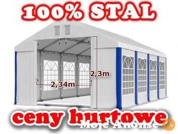 5x8m Namiot WZMOCNIONY handlowy PAWILON ogrodowy WESELNY