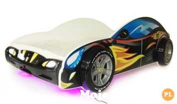 Łóżko dziecięce samochód 160x80 Świecące LED z materacem