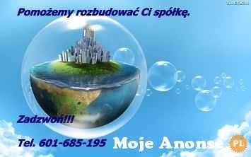 Zakupię spółkę z wierzytelnościami. Tel. 601-685-195