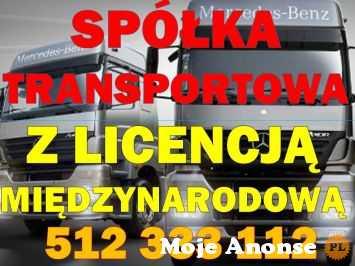 SPÓŁKA Z LICENCJĄ NA TRANSPORT MIĘDZYNARODOWY, TEL. 512 333 112
