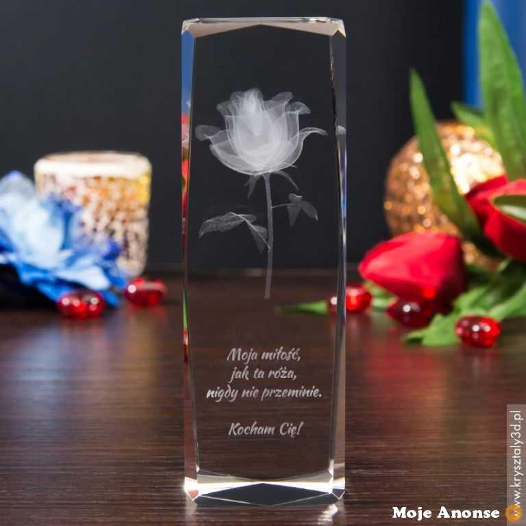 Róża 3D - trafiony prezent na Dzień Nauczyciela