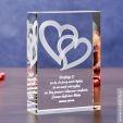 Splecione Serca 3D - personalizowany prezent dla ukochanej