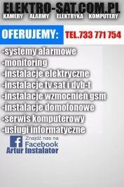 Instalacje elektryczne, alarmowe, TV sat, monitoring Białogard