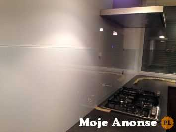 Panele kuchenne ze szkła