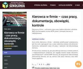 """""""Kierowca w firmie"""" - SPD SZKOLENIA"""