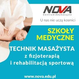 Szkoła policealna TECHNIK MASAŻYSTA NOVA CE