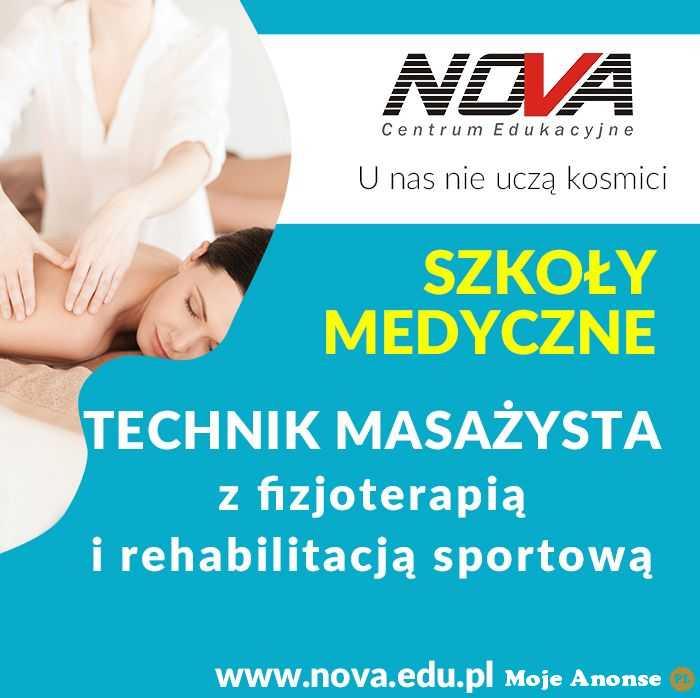Technik Masażysta Szkoła policealna Lublin NOVA CE
