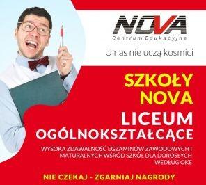 Szkoła Policealna Lublin LICEUM  DLA DOROSŁYCH NOVA CE