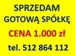 SPRZEDAM GOTOWE CZYSTE SPÓŁKI, 1.000 zł