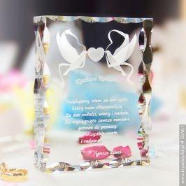 Podziękowanie dla Rodziców - Gołąbki Miłości 3D